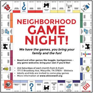 Game Night board